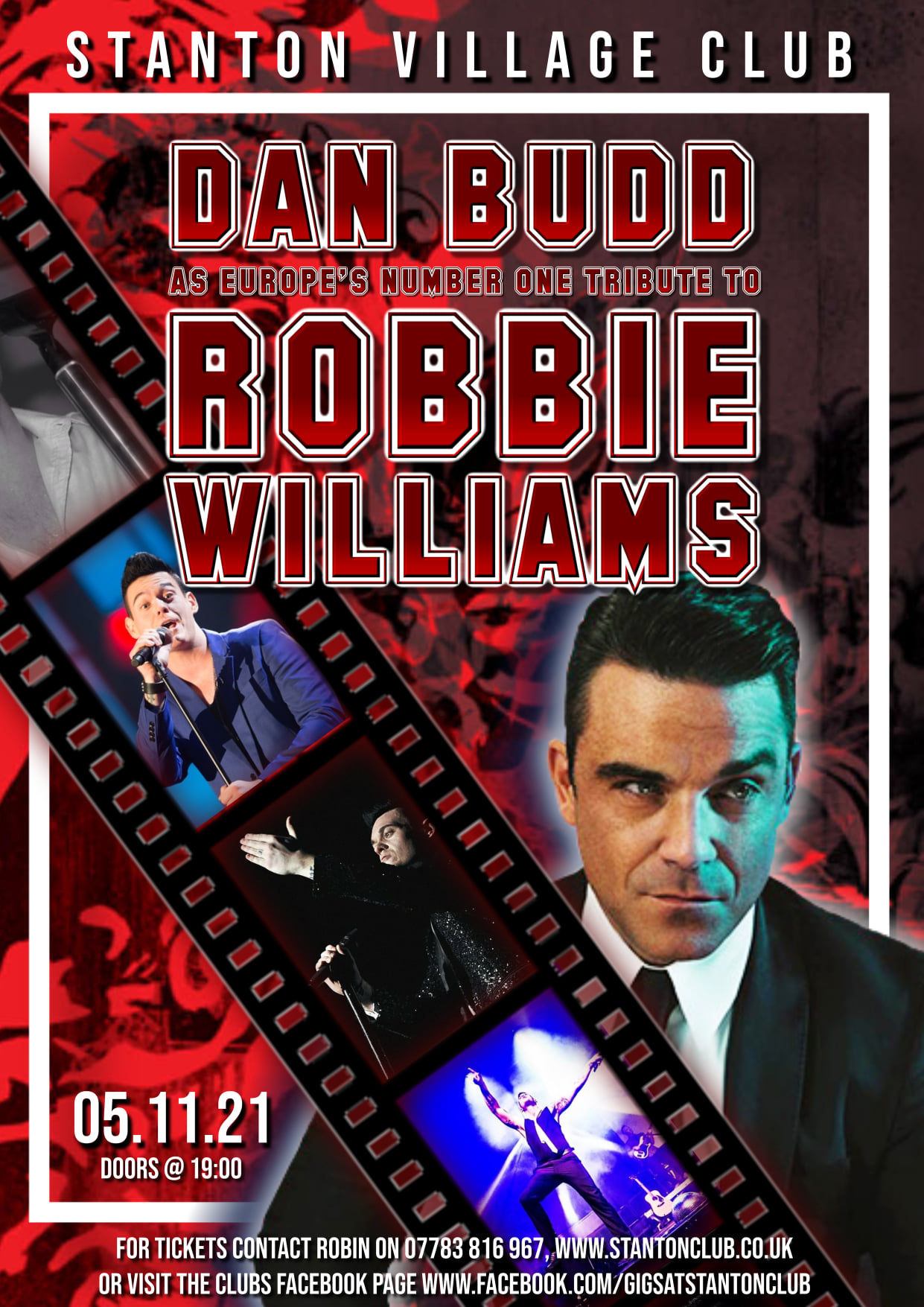 Worcestershire live music with Dann Budd as Robbie Williams