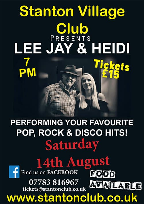 Gloucestershire Live music with Lee Jay and heidi poster