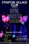 Worcestershire live music with a royal blood tribute called royal monster cotswolds poster